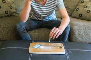 Man suffering from meth addiction