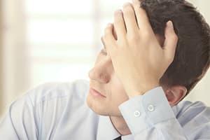 Man struggling with effects of Marijuana overdose